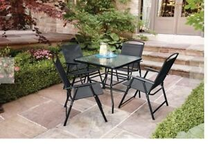 Brand New Patio Set-Mainstays 5 Piece Folding Set