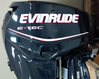 Like New 60 HP Evinrude E-Tec Outboard Motor with warranty!