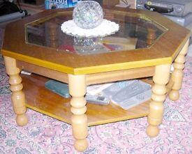 Hexagonal Coffee Table (Sol;id Wood)