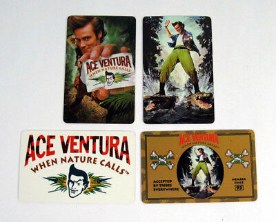 1995 Morgan Creek Ace Ventura Credit / Wallet Card Set (4)