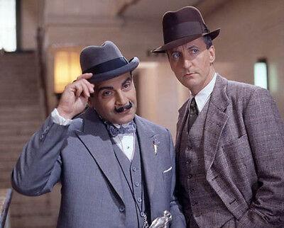 David Suchet and Hugh Fraser UNSIGNED photo - H6003 - Poirot