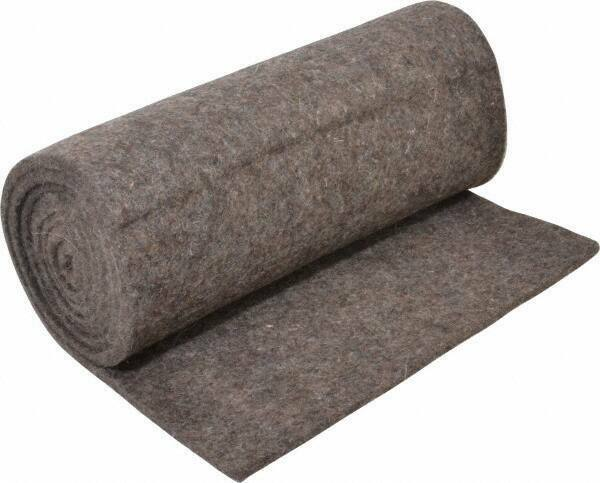 """Pressed Wool Felt Sheet, 6 foot x 1 foot x 1/4"""" Thick, Gray"""
