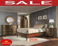 Deals Store, queen beds,1 dresser,1 mirror,1 chest,2 site tables