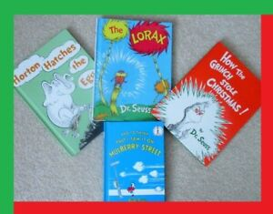 DR SEUSS… 4 Book Collection… The Grinch… Horton Hatches the Egg