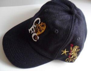 CHELSEA FC FOOTBALL CLUB NAVY WOOL  BASEBALL CAP HAT