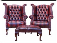 **WANTED** Chesterfields any condition! Footstool,suites,sofas,club chairs,wing backs £££