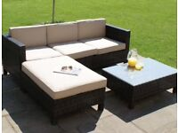 Patio garden sofa settee chair set