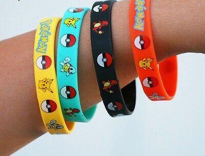 Pokemon Wristband Rubber Bracelet 24 Pieces PCS - Birthday Party Favors Supplies - Pokemon Party Supplies