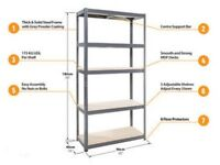 Brand New Solid Storage Shelving Unit - 5 Tier - 180x90x40cm (Racking Shelf,Garage,House,DIY,cheap)