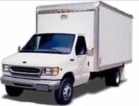 Cube van and crew, ready to help you move!