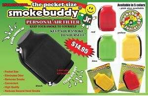 BLACK Smoke Buddy JR. Personal Smoking Air Purifier Charcoal Filter SmokeBuddy