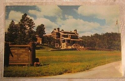 Game Lodge Hotel Resort Custer State Park Sd Vintage Postcard
