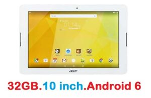 "10"" TABLET 32GB Android 6 Acer Iconia One 10 / WiFi/ Bluetooth/"