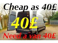 Man and van north London 07427156228