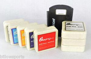 8 Blocks of Surfboard Wax + Wax Comb