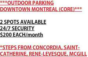 ** 2 PARKING SPOTS IN DOWNTOWN MONTREAL CORE**