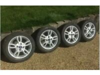 "15"" FORD FIESTA TWIN SPOKE MK7 8 ALLOY WHEELS & With TYRES 195/55/15 Alloys 4x 2"