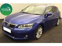 £260.31 PER MONTH BLUE 2012 LEXUS CT 200h 1.8 HYBRID SE-L PREMIER 5 DOOR AUTO