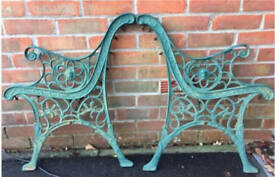 Cast iron Garden bench ends with lion face