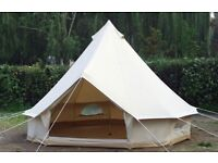 Brand New Cotton Canvas 5 Metre Bell Tent For Sale