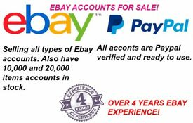 EBAY accounts on sale - Also provide other services such as feedback