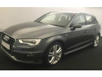Grey AUDI A3 SALOON 1.4 1.6 1.8 2.0 TFSI Petrol S LINE S-T FROM £67 PER WEEK!