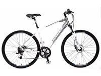 Carrera Crossfire 3 Mens Hybrid Bike White - Alloy Frame / 700C Wheel / 24 Speed