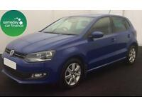 £165.72 PER MONTH BLUE 2013 VOLKSWAGEN POLO 1.4 MATCH DSG 5 DOOR PETROL AUTO