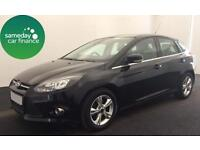 ONLY £167.79 PER MONTH BLACK 2013 FORD FOCUS 1.0 ECO BOOST ZETEC PETROL MANUAL