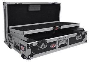 ProX XS-MIXDECK-WLT Numark Mixdeck Controller DJ Flight Case+Laptop Shelf/Wheels