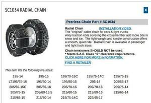 1034 Radial Tire Chains - never used