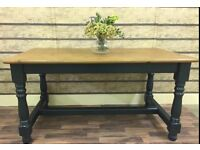 SOLID 5FT STUNNING PINE FARMHOUSE TABLE CAN DELIVER