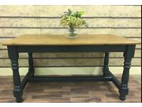 5FT STUNNING SOLID PINE FARMHOUSE TABLE CAN DELIVER