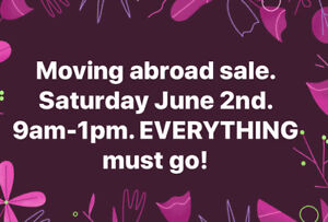 Garage Sale - moving abroad - great items - downtown Toronto