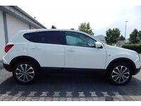 TEKNA Nissan Qashqai 2.0 white satnav panoramic roof £8200 all offers considered 4x4 family car