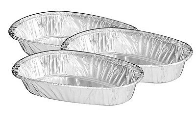 Aluminum Foil Small Baked Potato Shell 50pk -disposable Container Pans Hfa 335