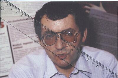 Foto vom Schriftsteller JÖRG FAUSER - Pressefoto - Aufnahme von 1985 -  Autor