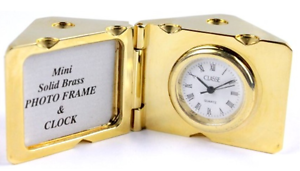 Classe Mini Solid Brass Die-Shaped Photo Frame And Clock Morley Bayswater Area Preview