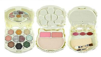 Blusher Lip Gloss Shimmer Eyeshadow Palette Makeup Kit Brush Mirror Cosmetic Set