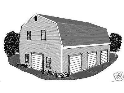 30 x 40 3 Fold Gambrel Garage Construction Plans Unbooked Boardwalk-up Loft Extra Scope Neighbourhood
