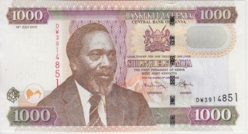 Kenya Banknote P51e 1000 1,000 1.000 Shillings 2010, AU