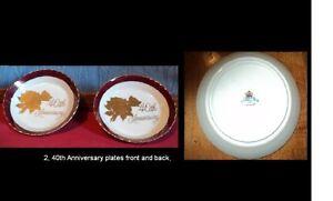 Ceramic Plates & 40th Anniversary Pin Dishes Stratford Kitchener Area image 3