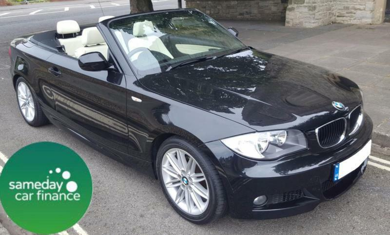 £240.10 PER MONTH BLACK 2010 BMW 118I 2.0 M SPORT CONVERTIBLE PETROL AUTOMATIC