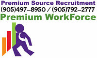 Night Shift - Labourers required in Brampton and Milton