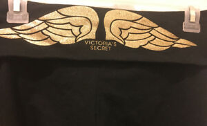 Brand new Victoria's secret glitter gold over leggings M