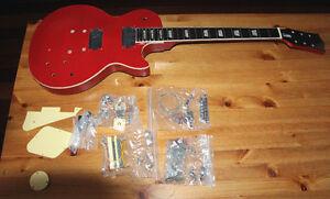 Cardinal Red DIY LP Guitar Kit - 100% Mahogany