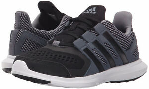 NEW Adidas Girls Running Shoes Black Hyperfast 2.0 Size 1 Youth