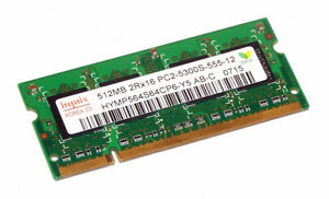 Mémoire portable (3) Hynix 512MB PC-5300S 667Mhz memory laptop