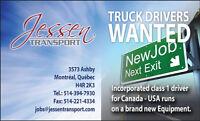 On recherche CHAUFFEURS de camion TRUCK DRIVERS WANTED