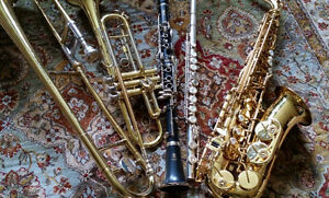 School band instruments